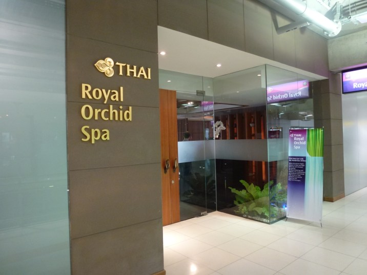 Royal First Class Lounge - Royal Orchid Spa entrance