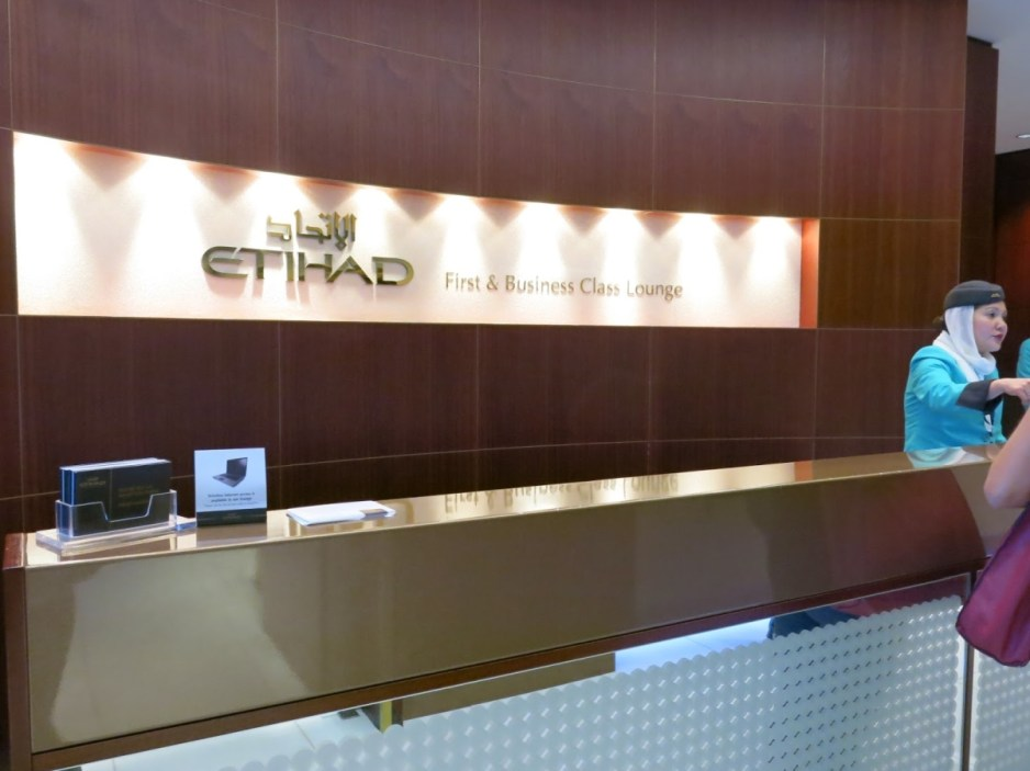 Etihad Airways First Class Lounge - Reception