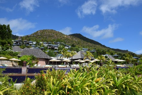 Raffles Praslin - Resort view from the beach