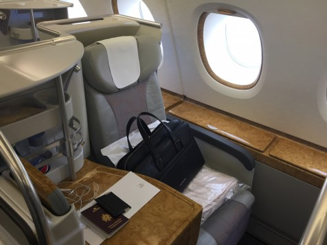 Emirates A380 Business Class - Window seat