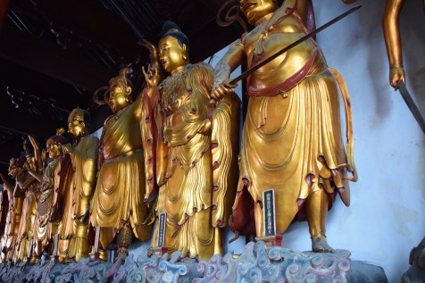 Tour of China - Shanghai Puxi, Jade Buddha Temple statues