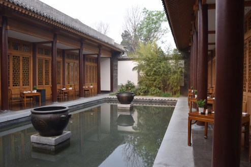 Aman at Summer Palace - The Grill restaurant courtyard