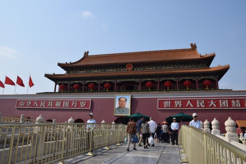 Tour of China - Beijing Forbidden City entrance