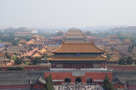 Tour of China - Beijing Forbidden City view from Jingshan Park