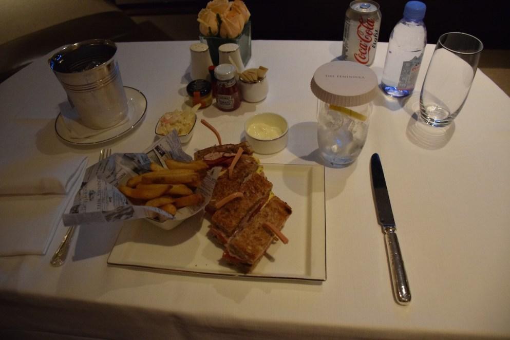 Peninsula Hong Kong - Room service Peninsula Club Sandwich