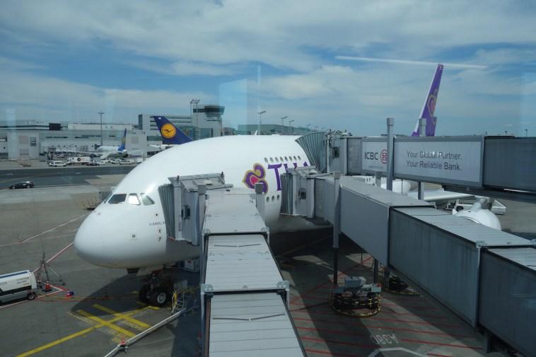 Thai Airways A380 Royal First Class - Boarding
