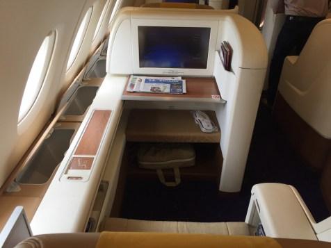 Thai Airways A380 Royal First Class - Window seat
