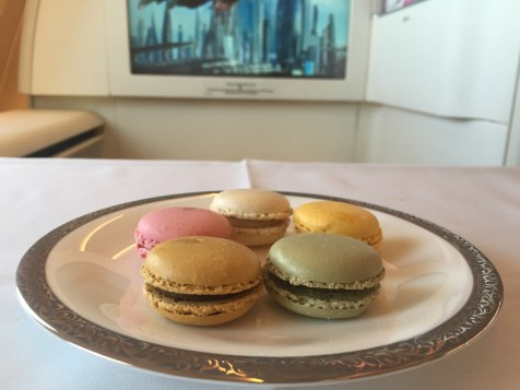 Thai Airways A380 Royal First Class - Macarons selection