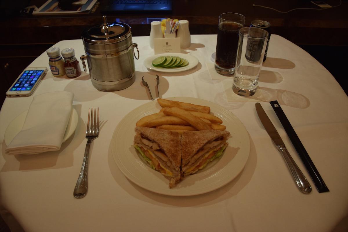St Regis Singapore - St Regis club sandwich by room service