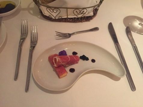St Regis Singapore - Labrezza restaurant caviar appetizer