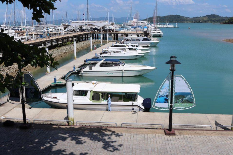 Private Six Senses boat at Phuket Ao Po Grand Marina