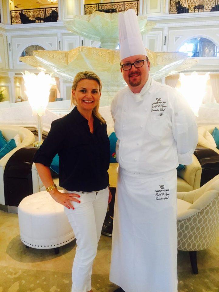 Chef Rudolf and me