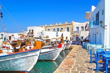 The port of Naoussa in Paros