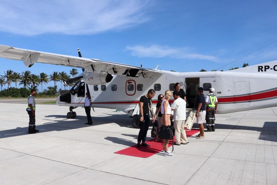 Landing at Amanpulo