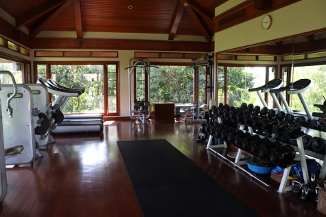 Fitness center at Aman Spa