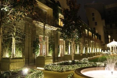 Courtyard by night