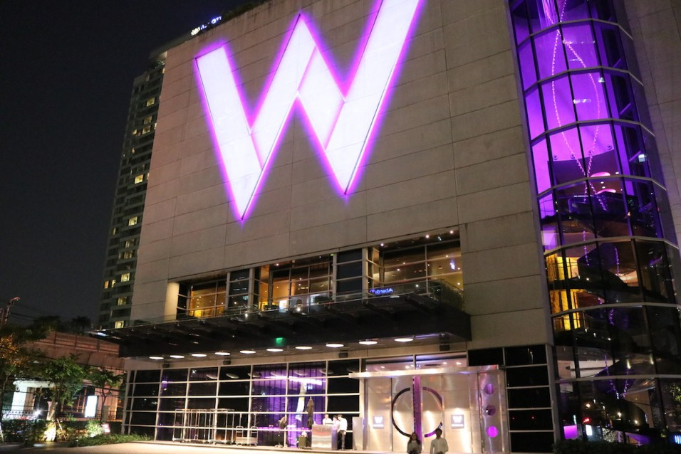 W Bangkok - Main entrance by night