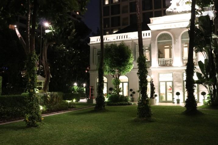 Original Oriental Bangkok building by night