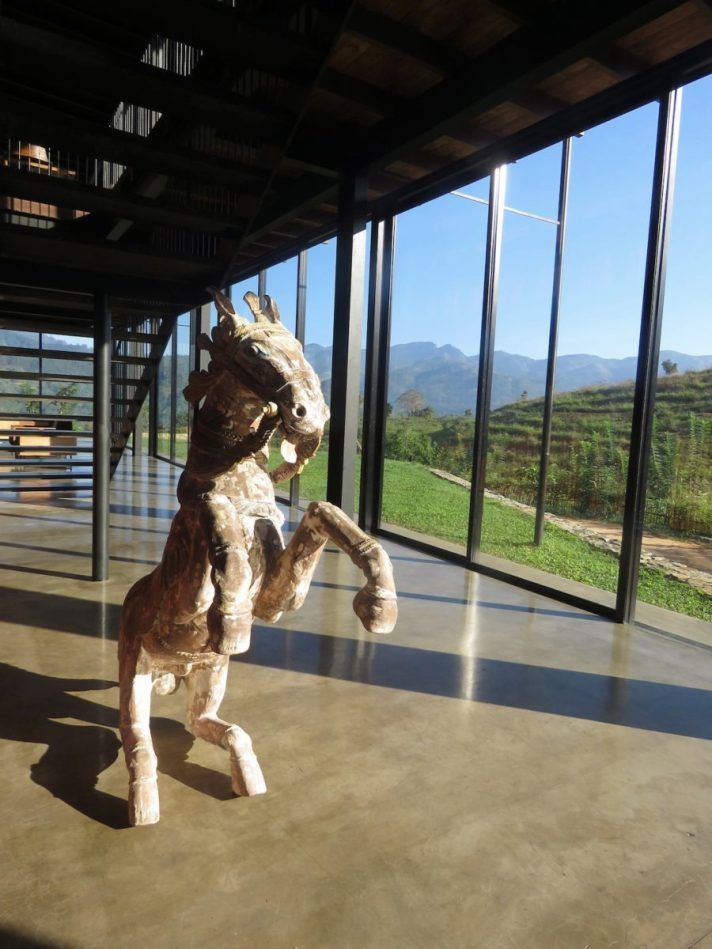 Sculpture at Santani