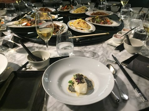 Alain Ducasse 8-course dinner - Turbot and its gold caviar