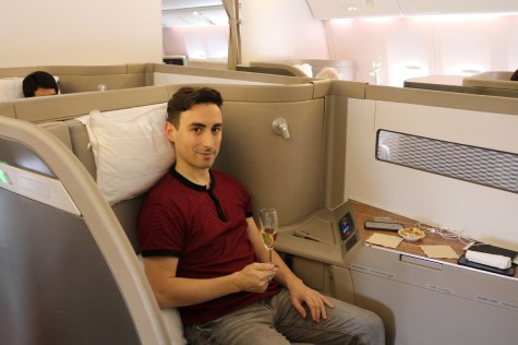 Cathay Pacific First Class suite on B777-300ER