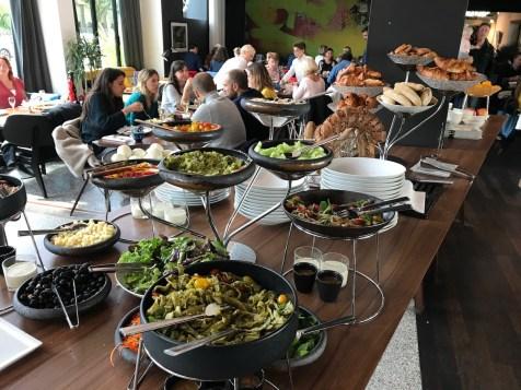 Salad bar at La Brasserie Urbaine