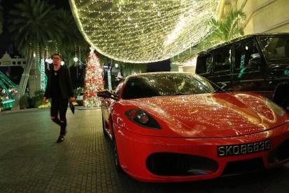 Luxury car at entrance