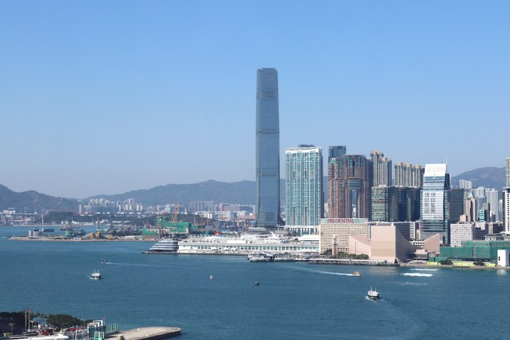 Half Moon room view over Victoria Harbour