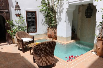 Plunge pool on patio