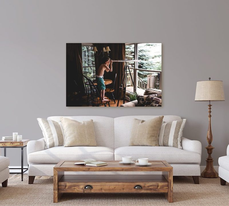 Photo canvas from holiday memories