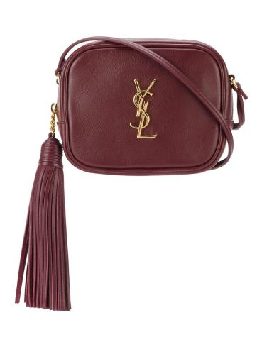 SAINT LAURENT monogram grained leather Blogger bag