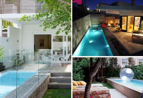 C mo tener una piscina en un patio peque o the for Piscinas alargadas y estrechas