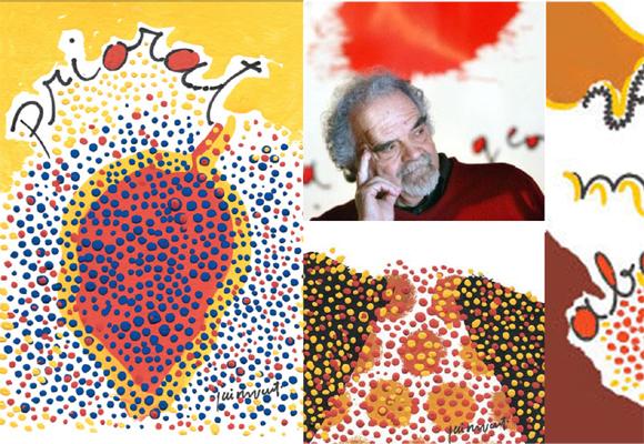 El pintor Josep Guinovart, dio vida a las etiquetas de los vinos de Marco Abella