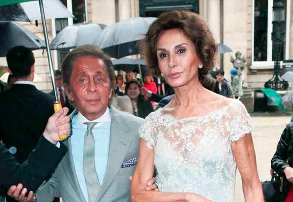Valentino y Naty Abascal, una de sus musas