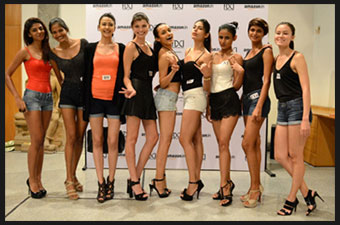India     FDCI s model auditions for Amazon India Fashion Week S S         ace choreographers Aparna Bahl and Vidyun Singh and VP Fashion NDTV  Lifestyle  Ambika Anand announced 11 new faces as shortlisted models for  AIFW SS 16