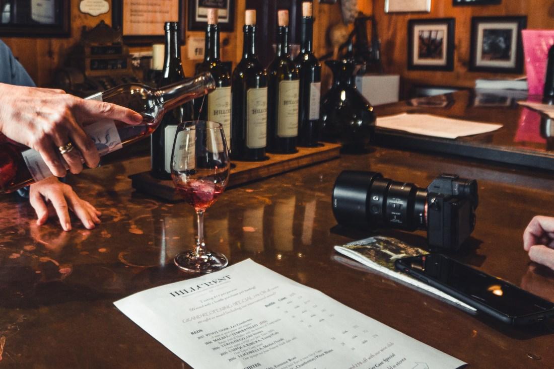 HillCrest Vineyards Alaska Airlines Free Wine Tasting