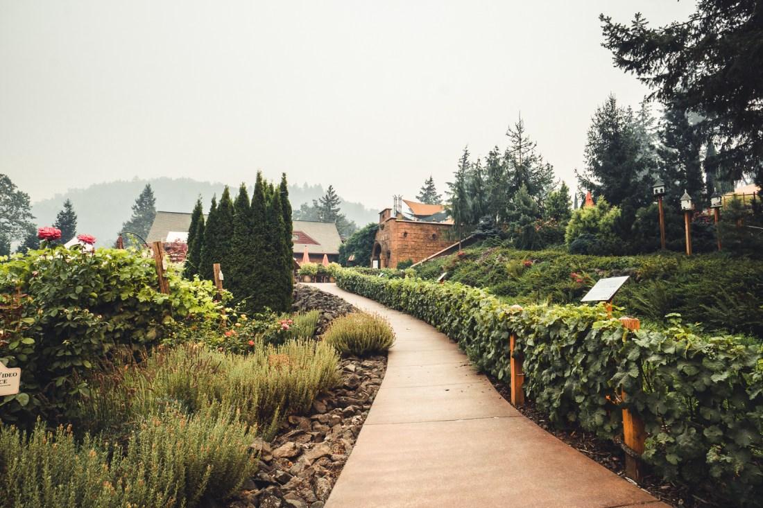 Walkway Up to Reustle Prayer Rock Vineyards