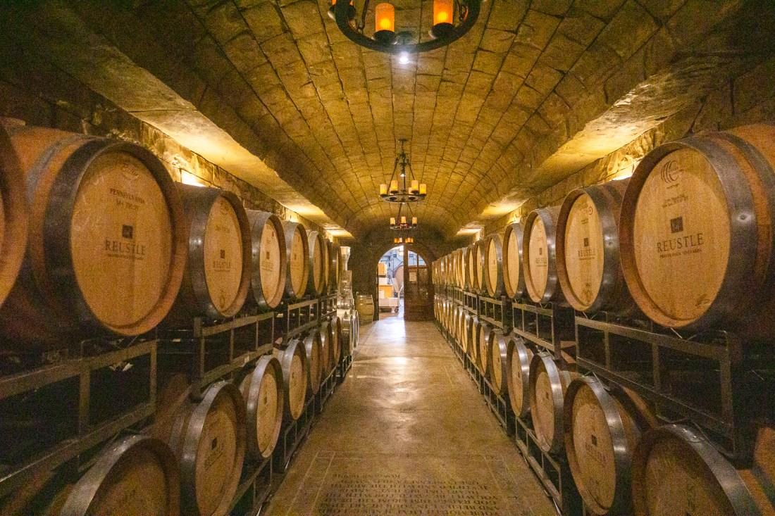 Reustle Prayer Rock Vineyards Wine Cave