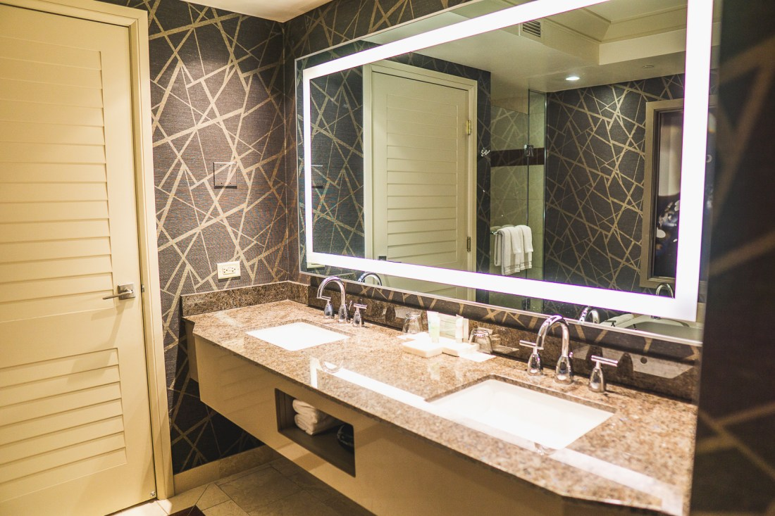 Bathroom at the Stay Well Kind Room at the Mandalay Bay