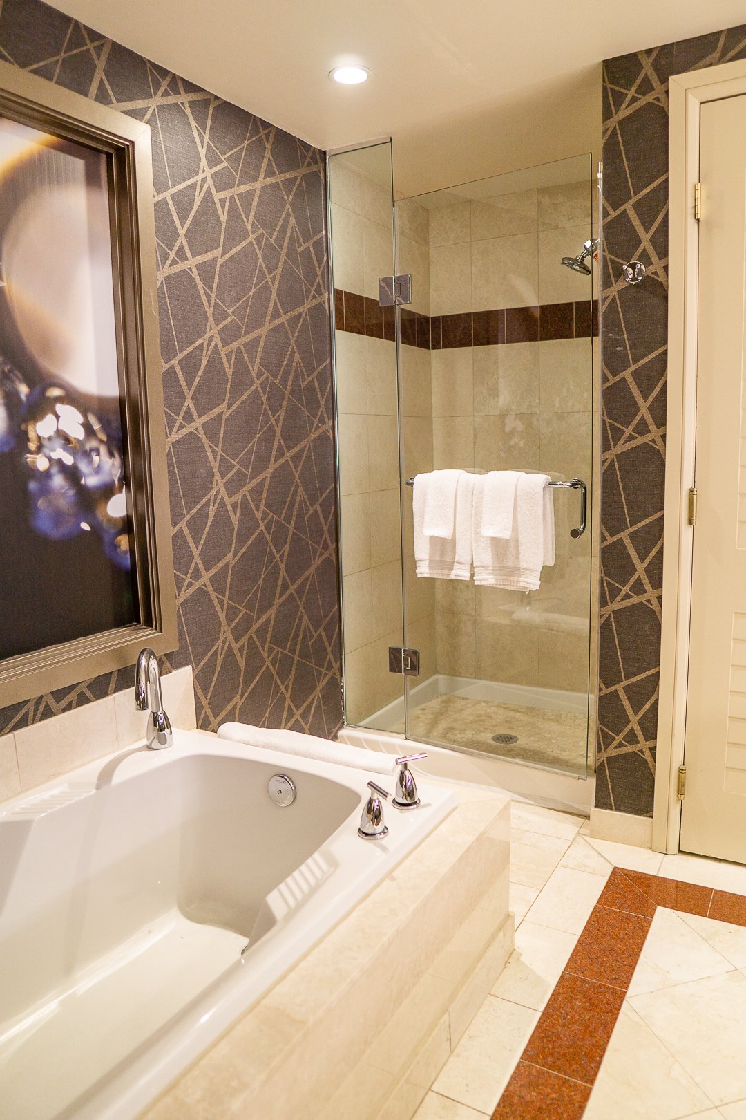 Bathroom at the Stay Well Kind Room at the Mandalay Bay with Chase LHRC
