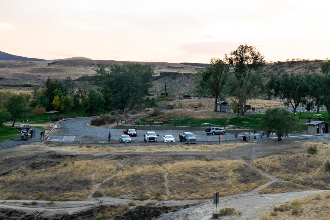 Palouse Falls Parking Lot