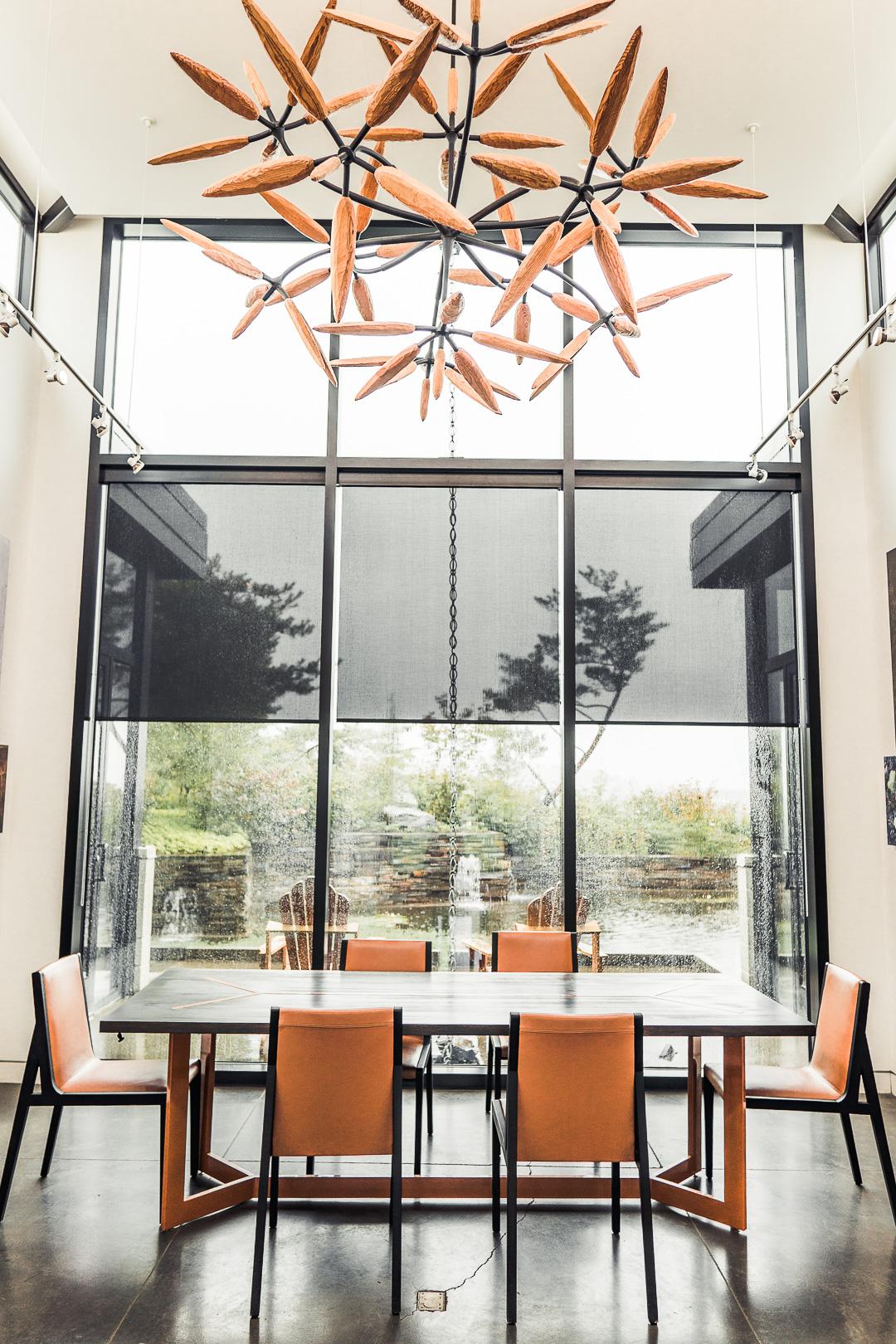 Private Tasting Room at Saffron Fields Vineyard