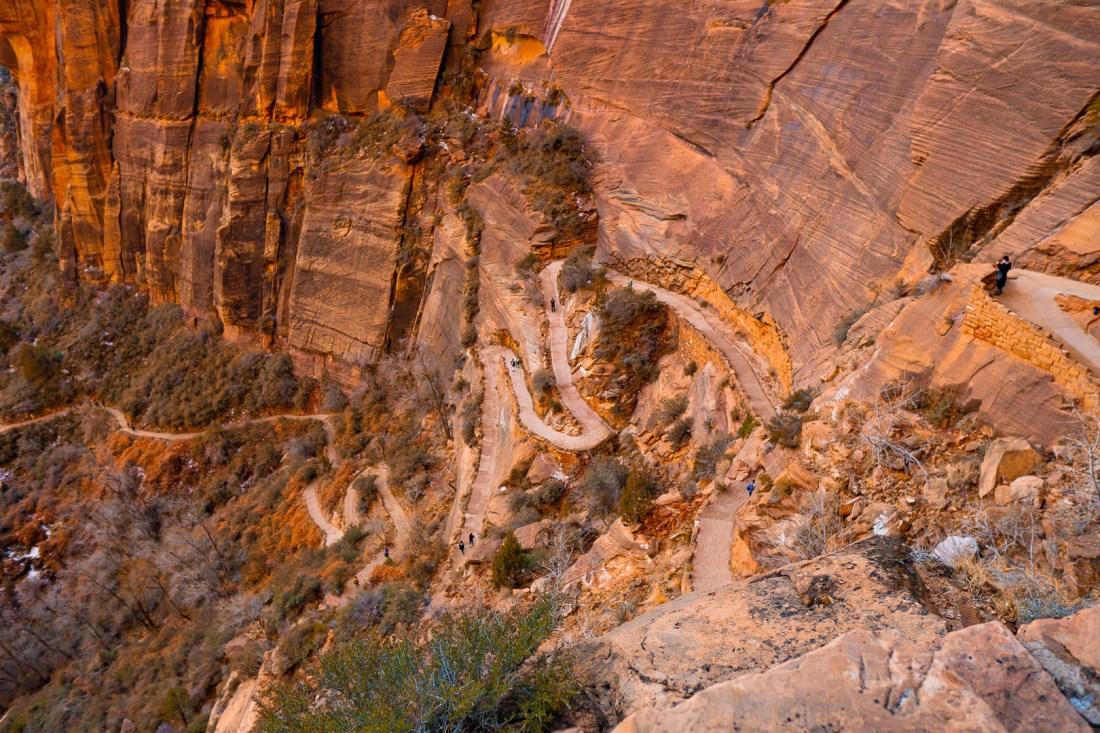 Long Switchbacks Down Refrigerator Canyon