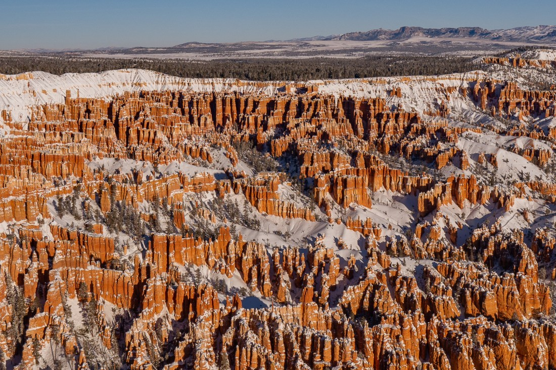View of the hoodoos straight in front of us at Bryce Point
