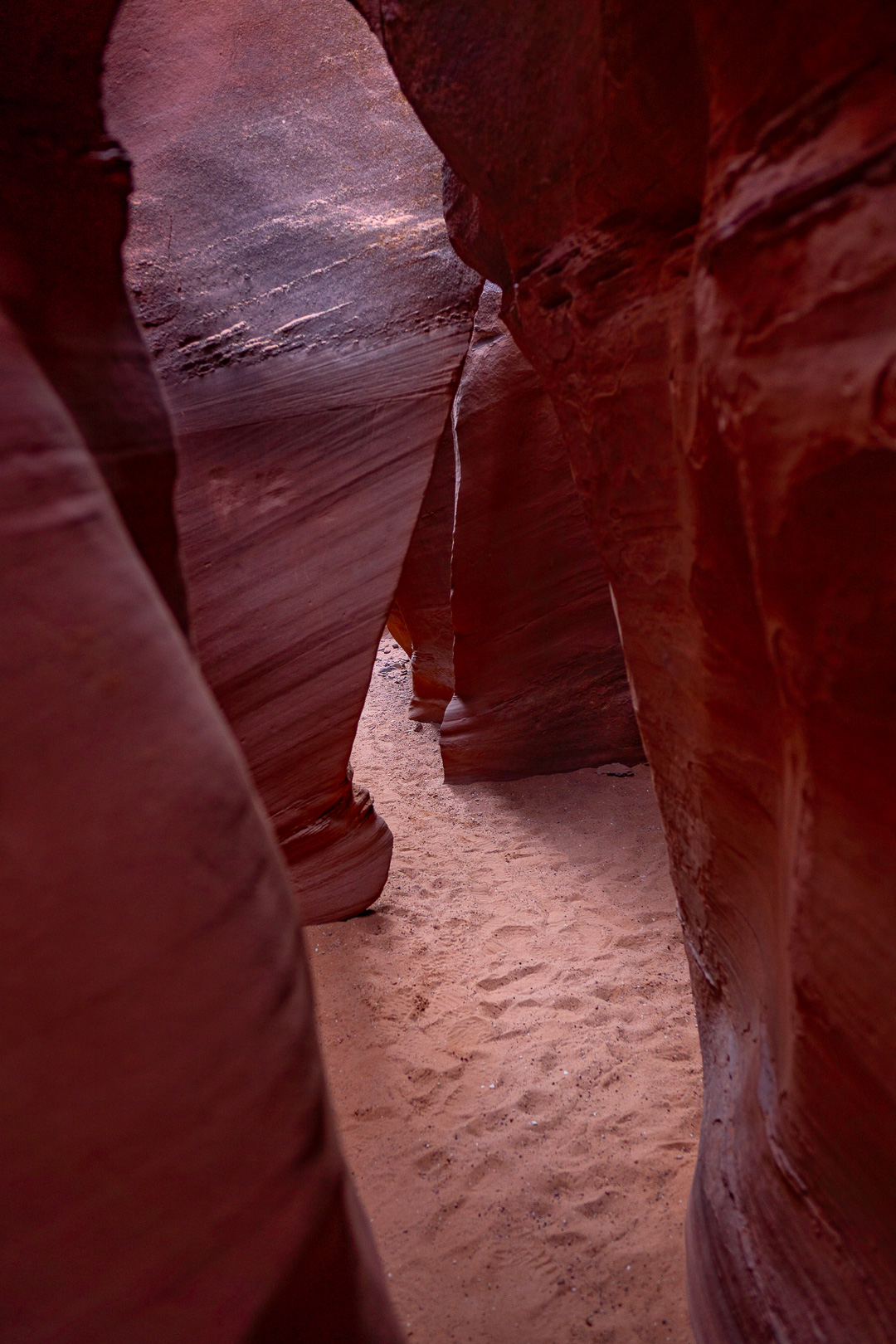 A wider section of Spooky Slot Canyon