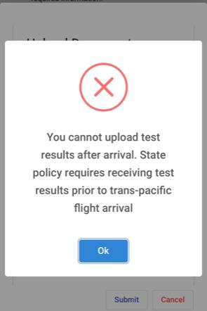 Safe Travels Account Error