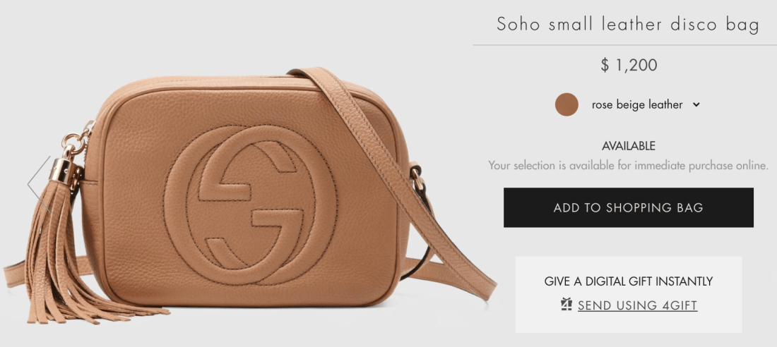 Gucci Soho Small Leather Disco Online Price