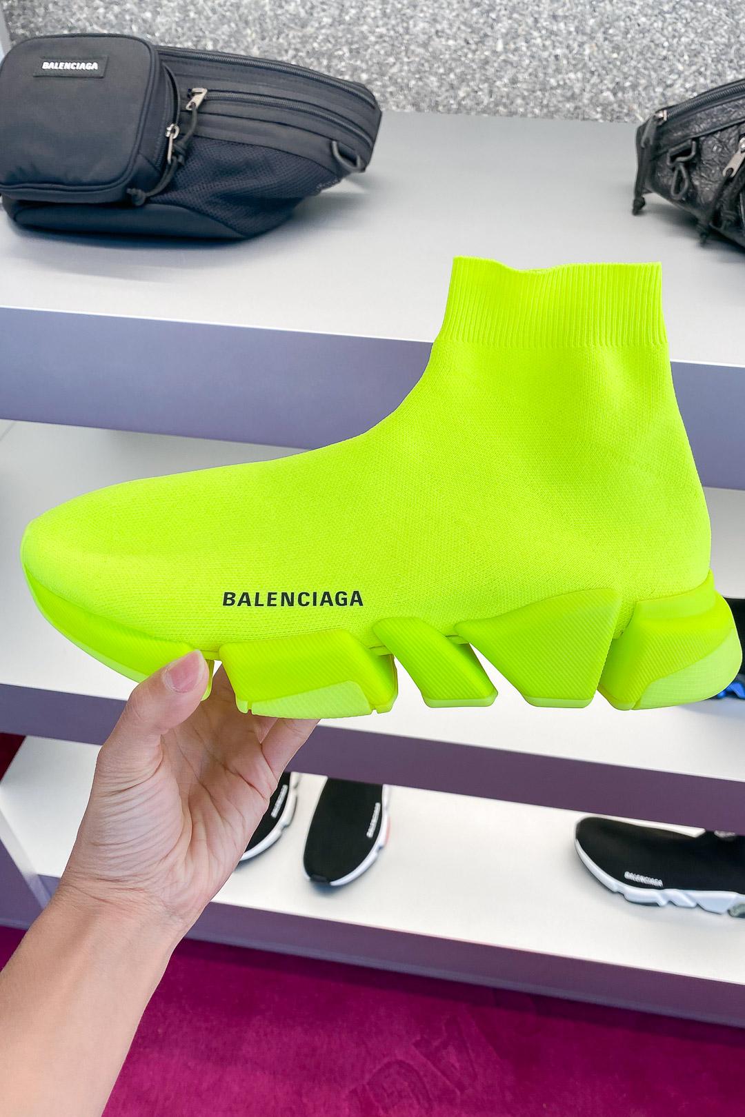 Balenciaga Men's Speed 2.0 Sneaker in Yellow