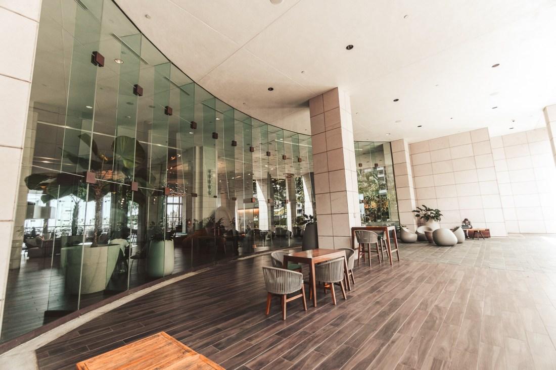 Prince Waikiki Hotel Back Outdoor Lounge Area