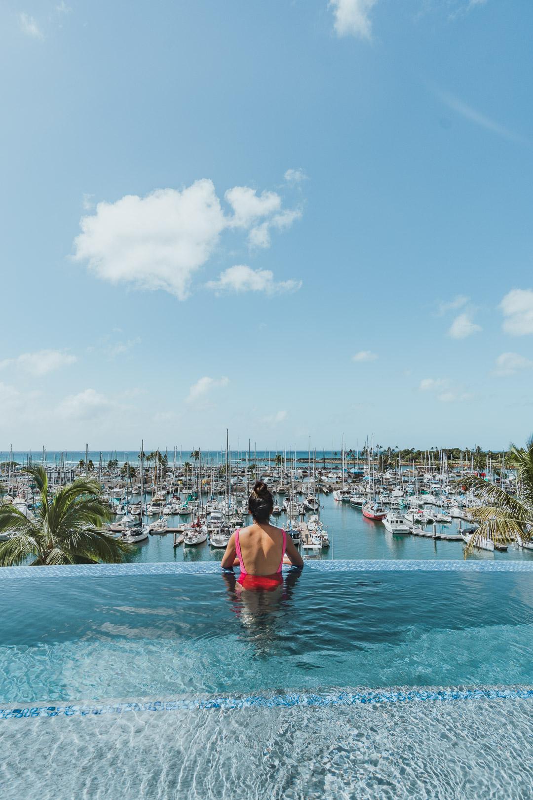 Prince Waikiki Infinity Pool During Noon